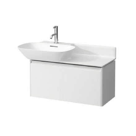 813302 - Laufen Ino 900m x 450mm Washbasin (Right Shelf) & Base Vanity Unit - 8.1330.2